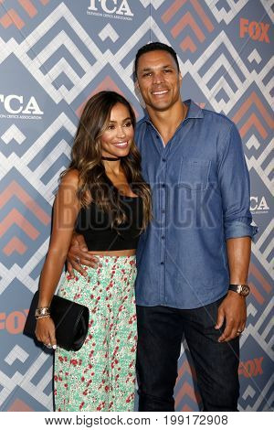 LOS ANGELES - AUG 8:  October Gonzalez, Tony Gonzalez at the FOX TCA Summer 2017 Party at the Soho House on August 8, 2017 in West Hollywood, CA