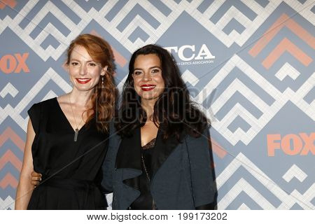 LOS ANGELES - AUG 8:  Alicia Witt, Zuleikha Robinson at the FOX TCA Summer 2017 Party at the Soho House on August 8, 2017 in West Hollywood, CA