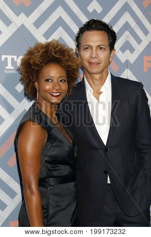 LOS ANGELES - AUG 8:  Karin Gist, Benjamin Bratt at the FOX TCA Summer 2017 Party at the Soho House on August 8, 2017 in West Hollywood, CA