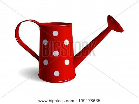 Watering can. Isolated object. White background Vector illustration