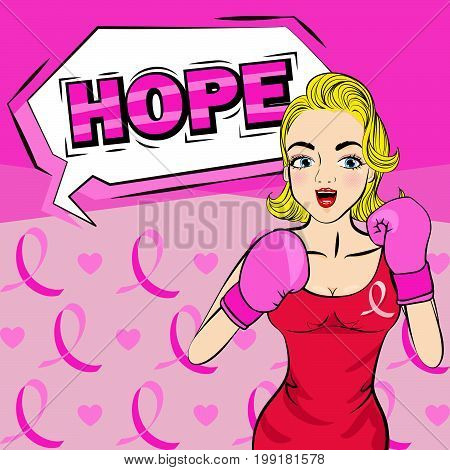 pop of women breast cancer concept on the pink background