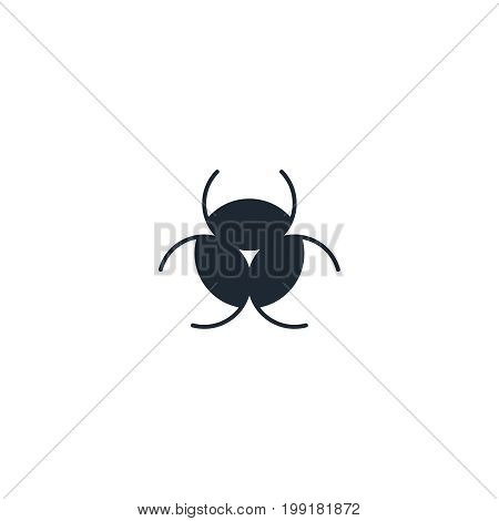 Chemical hazard silhouette  icon. High quality black outline Logo for web site design and mobile apps. Vector illustration on a white background.