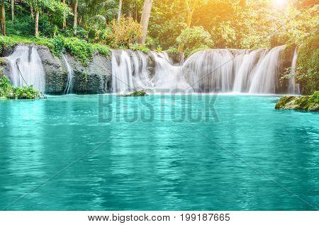 The Deep forest Waterfall (landscape waterfall beautiful)