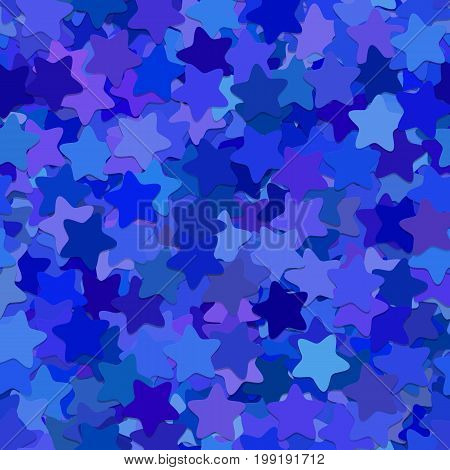 Repeating abstract geometric star pattern background - vector illustration from rounded pentagram stars in blue tones with shadow effect