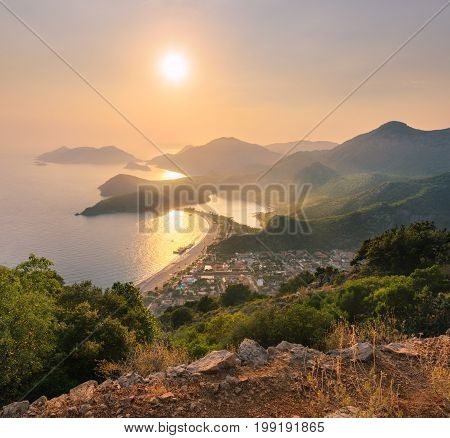 Beautiful Seascape With Mountains, Water, Islands
