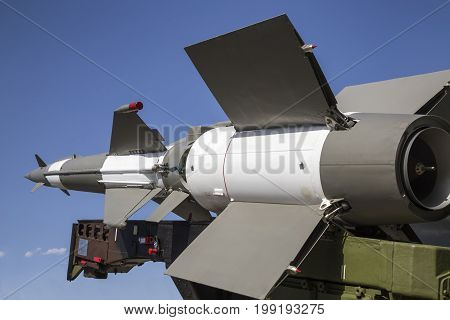 Side View Of The Air Defense Missile System