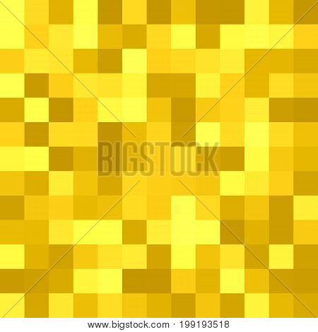 Geometrical abstract square tiled background - vector graphic design from squares in golden tones