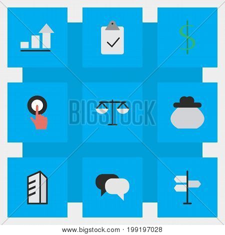 Elements Growing, Talking, Direction And Other Synonyms Conversation, Money And Greenback.  Vector Illustration Set Of Simple Job Icons.