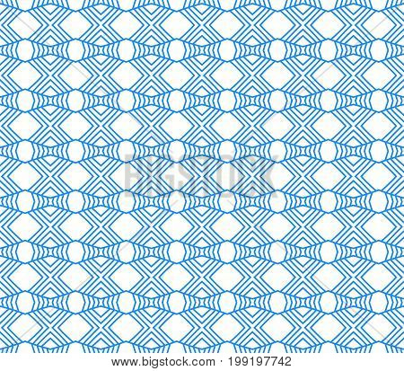 Seamless Abstract Hand Drawn Pattern. Square Background. Blue Wallpaper