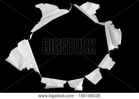White Crumpled Paper With Hole Effect, With Blank Like Blackboard Background, Idea Education