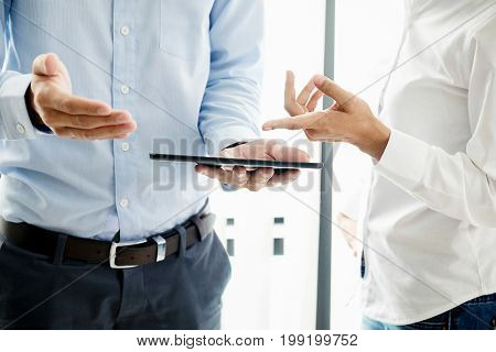 Successful Businessmen Handshaking After Good Deal. Business Handshake And Business People.vintage T