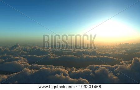 Bird's eye view of the clouds