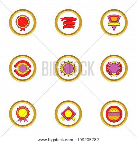 Design elements icons set. Cartoon set of 9 design elements vector icons for web isolated on white background