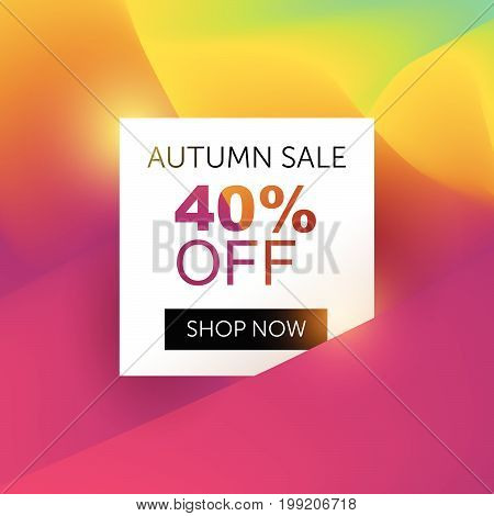 Autumn Sale Tag