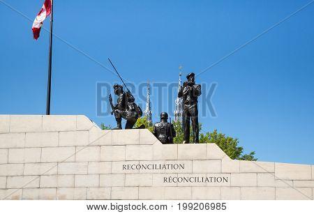 Canadian War Memorial In Ottawa Ontario Canada