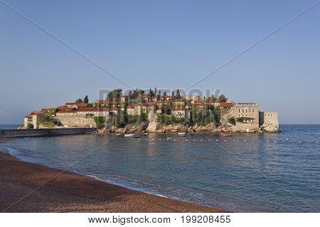 Sveti Stefan Island On The Budva Riviera