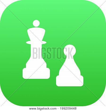 Vector Checkmate Element In Trendy Style.  Isolated Chess Icon Symbol On Clean Background.