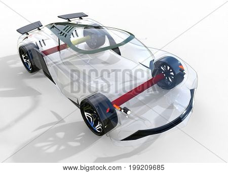 Generic and futuristic model of car