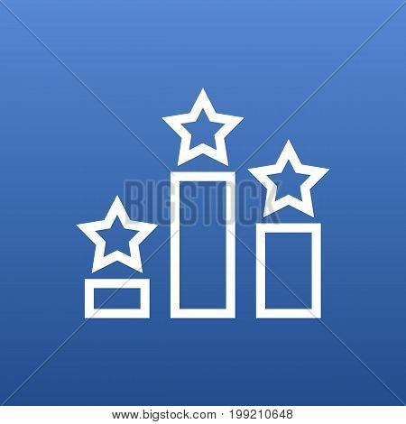 Vector Columns Element In Trendy Style.  Isolated Ranking Outline Symbol On Clean Background.