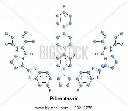 Pibrentasvir is an antiviral agent approved for use with glecaprevir as the combination drug for the treatment of hepatitis C