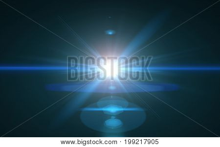 Abstract Digital lens flare in black background.Modern abstract beautiful rays light streak background.Nature beautiful flare.