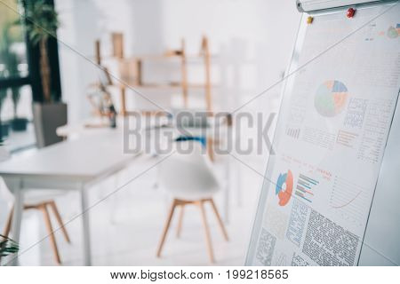 Flipchart With Business Infographics In Modern Office
