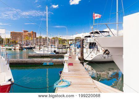 grandville island marina vancouver west canada british columbia