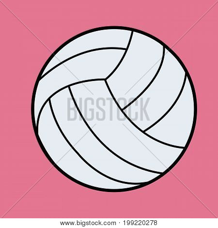 White Volleyball vector.Volleyball icon on pink background