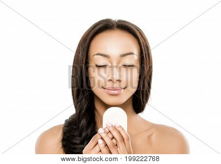 African American Woman With Soap