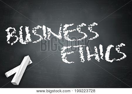 Blackboard Image Illustration Graphic With Business Ethics Wording