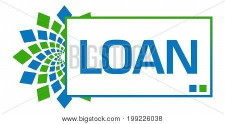 Loan text written over green blue background.