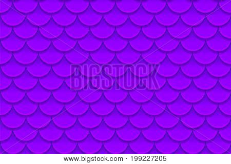 Seamless pattern of colorful violet purple fish scales. Fish scales, dragon skin, Japanese carp, dinosaur skin, pimples, reptile, snake skin, shingles. Vector illustration