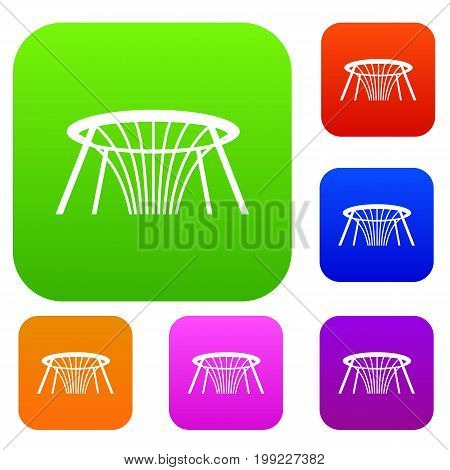 Fountain of Wealth in Singapore set icon in different colors isolated vector illustration. Premium collection