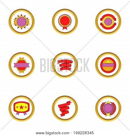 Banners and ribbons icons set. Cartoon set of 9 banners and ribbons vector icons for web isolated on white background