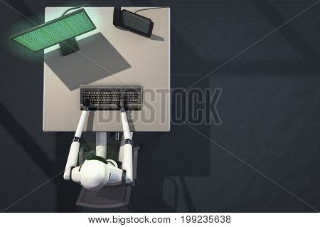 we are the robots, robot in data processing (3d rendering)