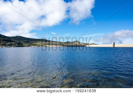 Lagoa Comprida is the largest lake of Serra da Estrela Natural park Portugal