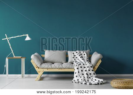 Teal Painted Living Room