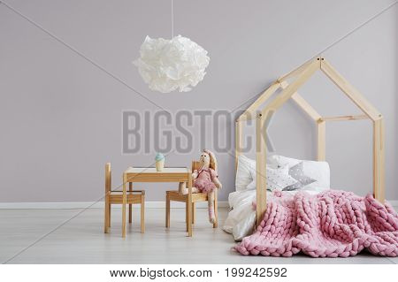 Pastel Pink Girl's Bedroom