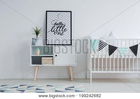 Modern Scandinavian Child's Bedroom Interior