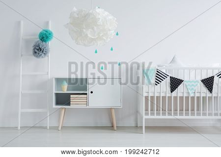 Modern Lamp In Children's Bedroom