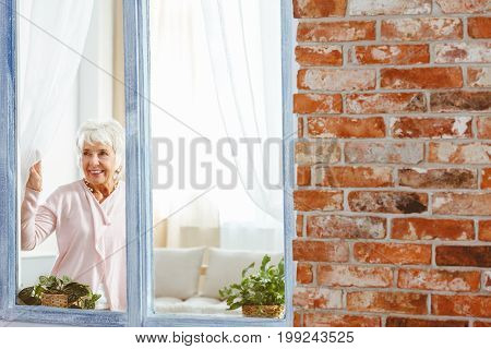 Grandma Waiting For Her Family