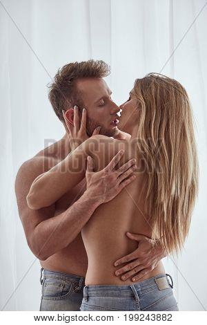 Man And Woman Having Affair