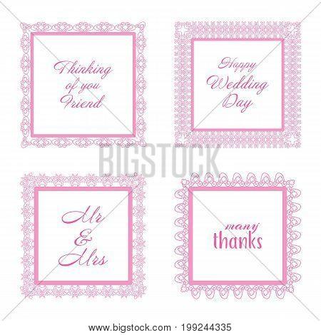 Elegant Lace Border Frames laser cut Picture Frames Art scrapbook - square pink lace frame and rectangle frames square and rectangle