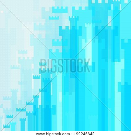 Abstract Background Blue High Castle