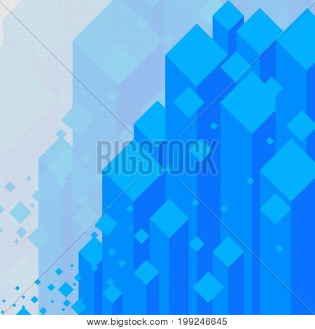 Abstract Background Blue Crystal Have Diamond On Gray Background