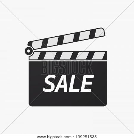 Isolated Clapper Board With    The Text Sale