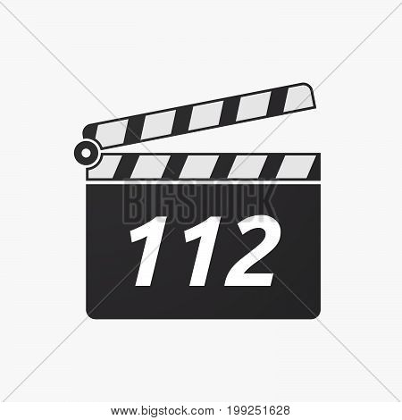 Isolated Clapper Board With    The Text 112