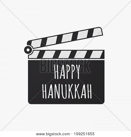 Isolated Clapper Board With    The Text Happy Hanukkah