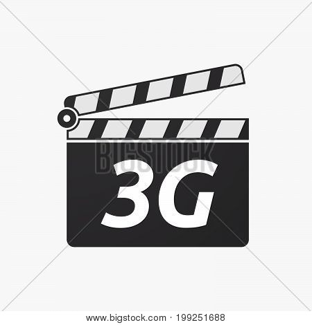 Isolated Clapper Board With    The Text 3G