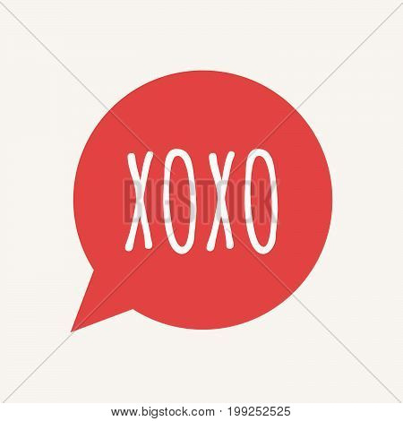 Isolated Speech Balloon With    The Text Xoxo